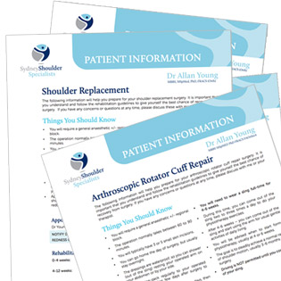 Patient Information for Shoulder Surgery - Shoulder reconstruction, arthroscopy and rehabilitation