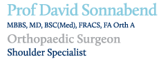 Prof David Sonnabend, Shoulder Surgeon
